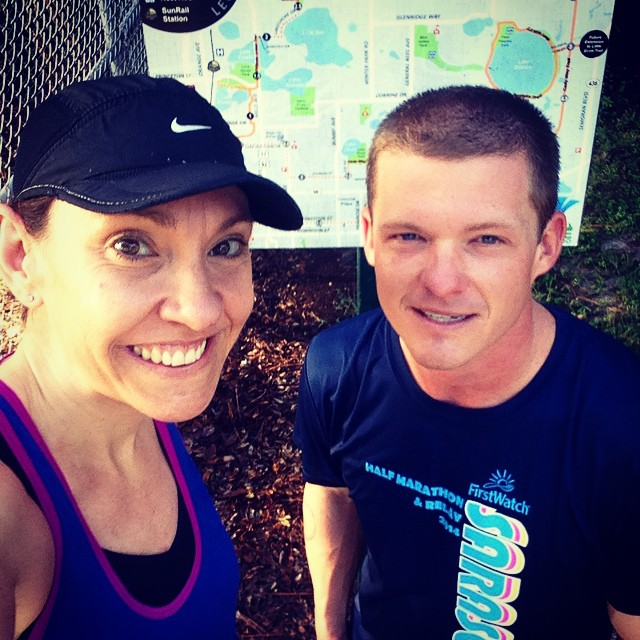 Had a great run this morning! Probably my best in weeks --14 miles at a 9:59 pace. It's bizarre how our 12-miler last week felt so much harder!
