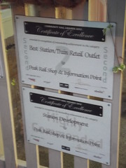 Matlock Station - signs - certificates