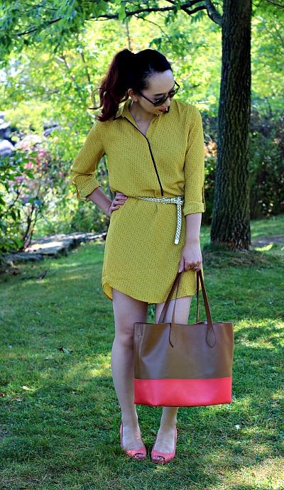 LovePretty-LOFT-TINY-FLORAL-PIPED-SHIRTDRESS-2, LOFT mustard dress