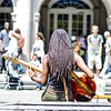 """What happens in #Vegas may stay in Vegas, but what happens in #NewOrleans, goes home w/ you."" #LaurellHamilton #frenchquarter #jacksonsquare #bass #dredlocks #music #nikon #nikonphotographer #jazz #livemusic"