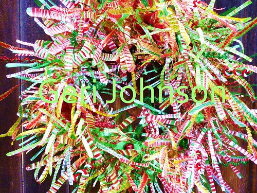 Recycled Water Bottle Peppermint Explosion Wreath 5