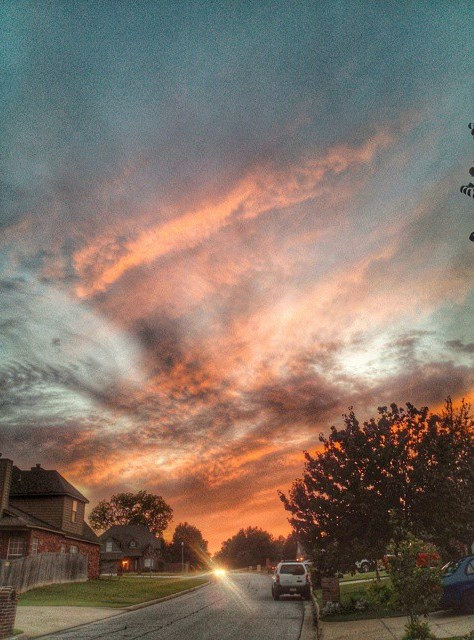 #sunset in the neighborhood #best_skyshots #tulsa #oklahoma #igersok