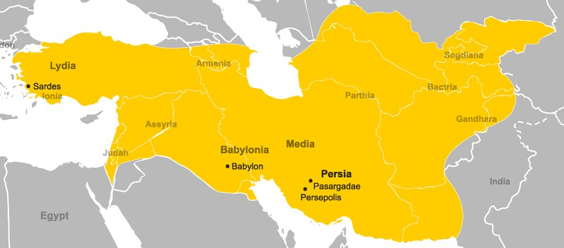 The Achaemenid Empire during the reign of Cyrus the Great