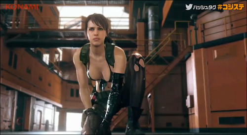 Quiet Drops Into Metal Gear Solid V