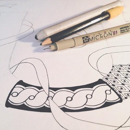 20. Beginning #fmsphotoaday #littlemomentsapp #zentangle #tangle #zenletter #zia