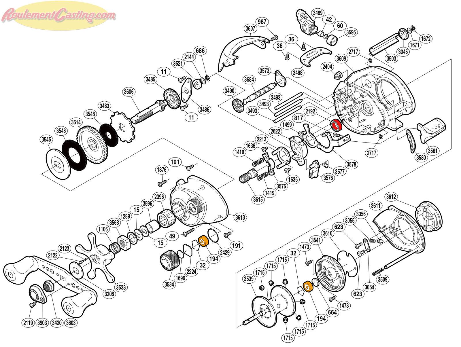 Schéma Shimano 06 Curado 201DHSV