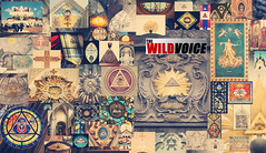 Collage of All Seeing Eye images in Catholic Churches