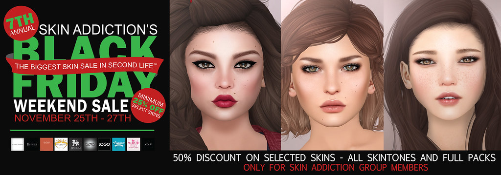 Skin Addiction Black Friday Sale - SecondLifeHub.com