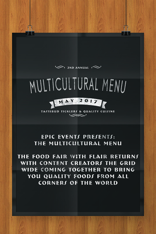 Multicultural Menu Flyer