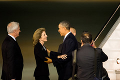 President Obama Welcomed by Ambassador Kennedy