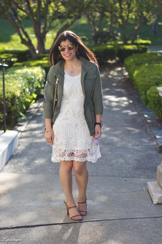 white lace dress, utility jacket.jpg