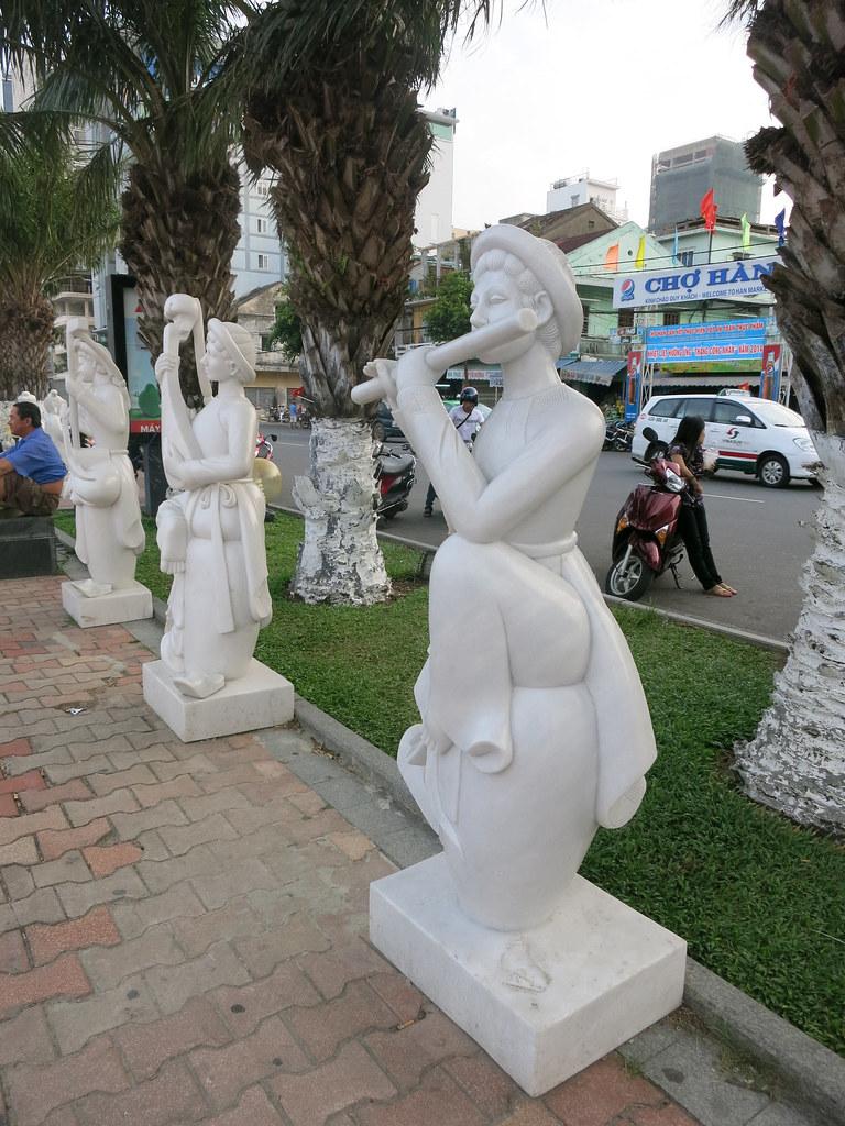 random marble statues