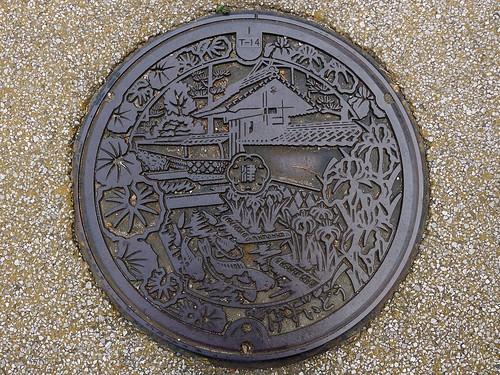 Tsuwano Shimane, manhole cover (島根県津和野町のマンホール)