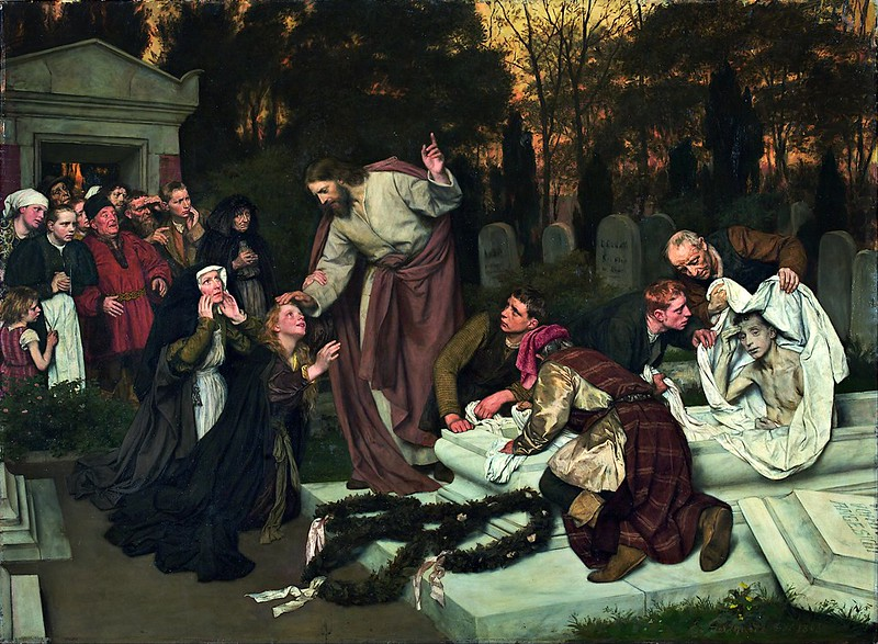 Eduard von Gebhardt - The Raising of Lazarus (1896)