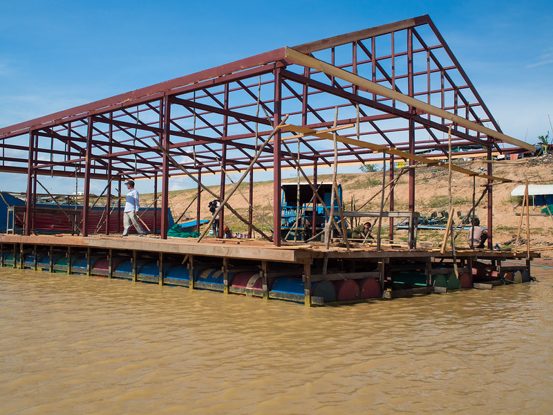 Floating house in progress