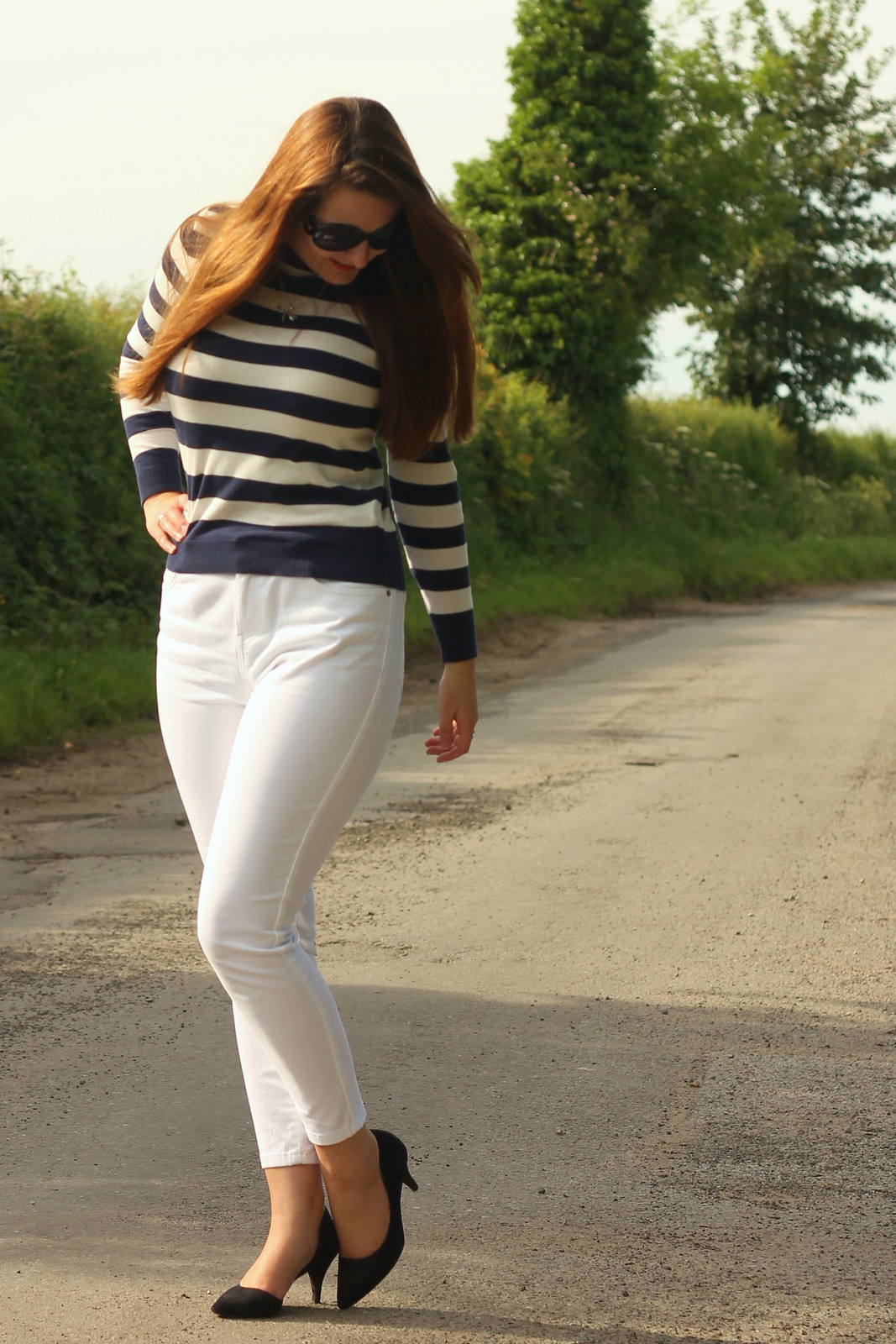 White capris outfit