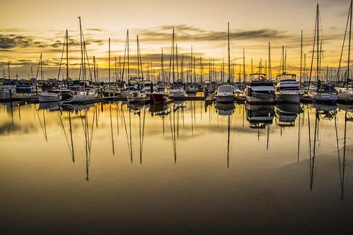 sea sky sun water clouds sunrise boats manly waterreflections sunsetsandsunrisesgold cloudsstormssunsetssunrises slowshutteronwater