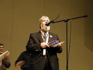 Thomas E. Fuller accepts the ARTC Lifetime Achievement Award