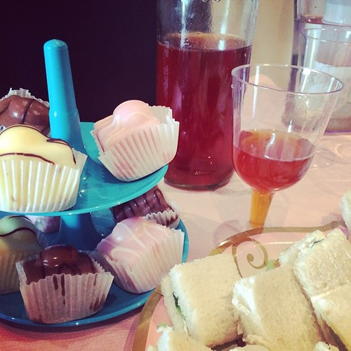 Yes, I attempted to make proper sweet tea in Ireland. Another view of the petite fours and tea sandwiches.