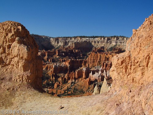 First view of some some of Bryce Canyon from the Queens Garden Trail, Bryce Canyon National Park, Utah