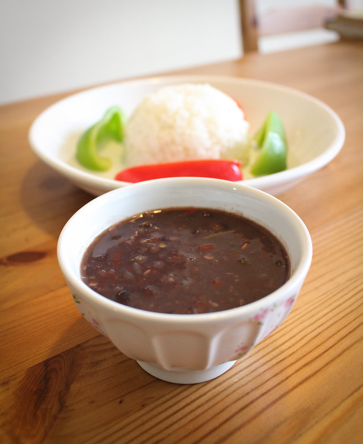 Frijoles Negros (Cuban Black Bean Stew) | via HeartofHomemade.com