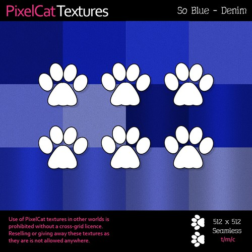PixelCat Textures - So Blue - Denim