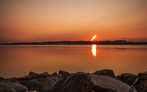 Sun Trail Over the Potomac River by Geoff Livingston