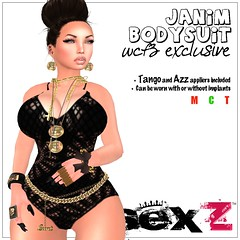 ..:sexZ:..-janiM Bodysuit / with Tango & Azz appliers for GOING BUST!