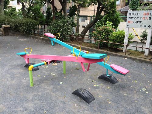 とらちゃんと恵比寿南二公園 2014/7/13