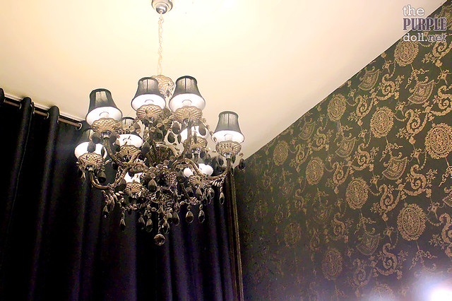 Chandelier at Princess Hazel Salon
