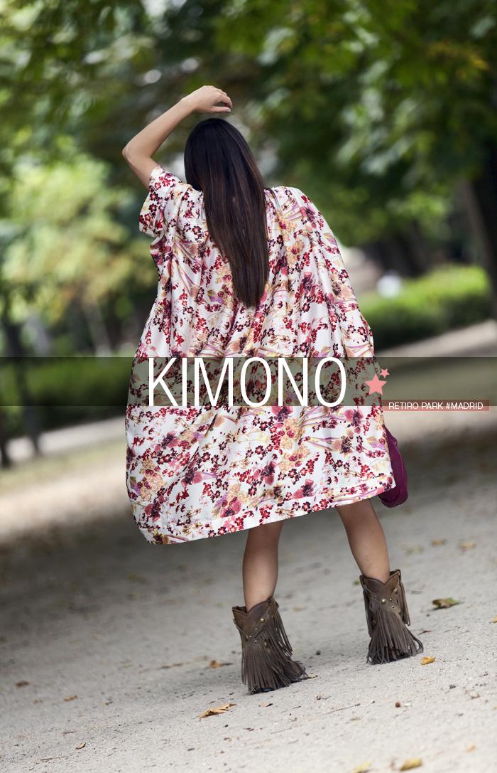street style barbara crespo kimono khemeia el retiro park fashion blogger outfit blog de moda