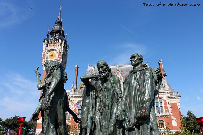 CALAIS - Place du Soldat Inconnu - Monument aux Bourgeois de Calais
