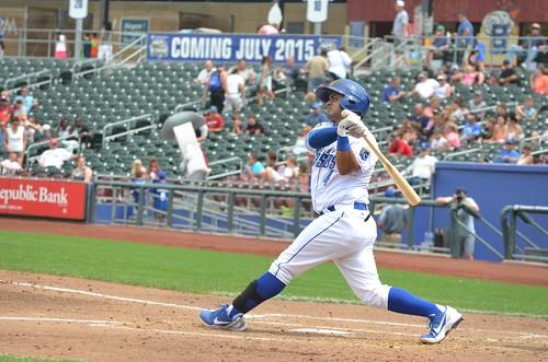 Christian Colon at bat