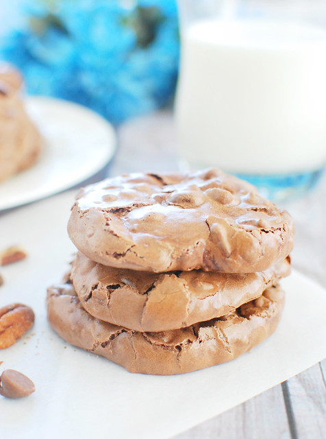 Flourless Double Chocolate Pecan Cookies - Fake Ginger