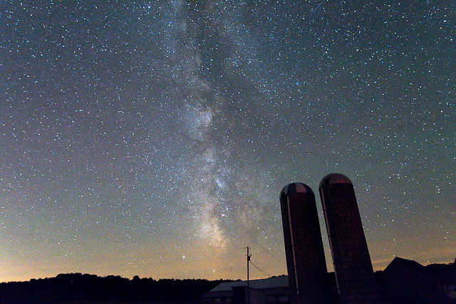 Milky Way Time Lapse - Silos - 2014 - D7100-142