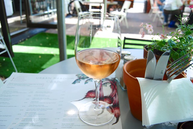 Lunchtime Wine at Urban Meadow Cafe, Bayswater