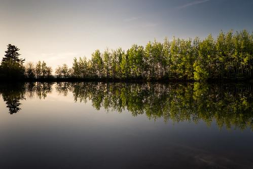 canada reflection water evening pond novascotia reservoir wolfville reservoirpark fujixe2