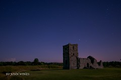 knowlton church at night