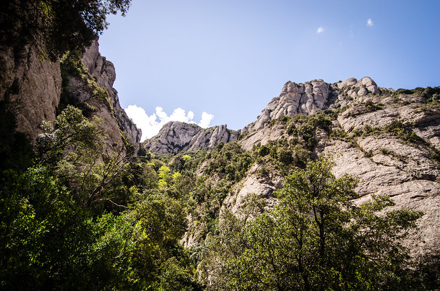 The breathtaking mountains of Montserrat, Spain.