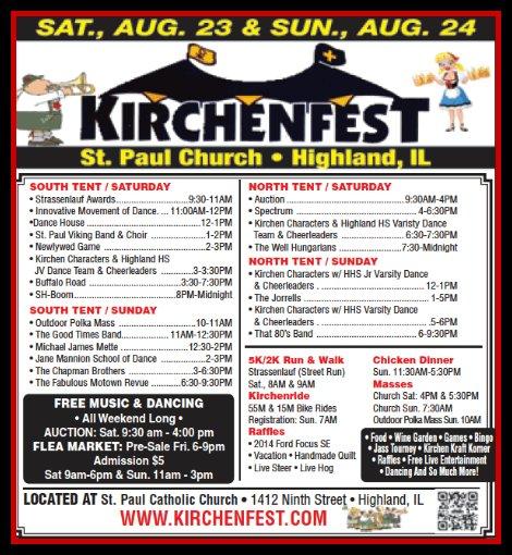 Kirchenfest 8-23, 8-24-14