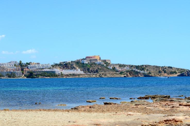 DSC_3177 Ibiza beach view of Ibiza Town