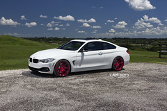 BMW 435I VELGEN WHEELS VMB8 RED