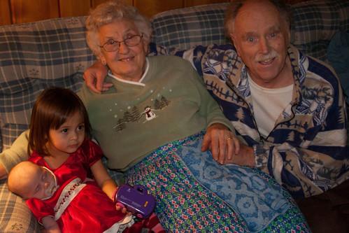 grandma julia, o, maekaella, & julia, xmas 2008