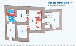 Plan des bains de la forteresse
