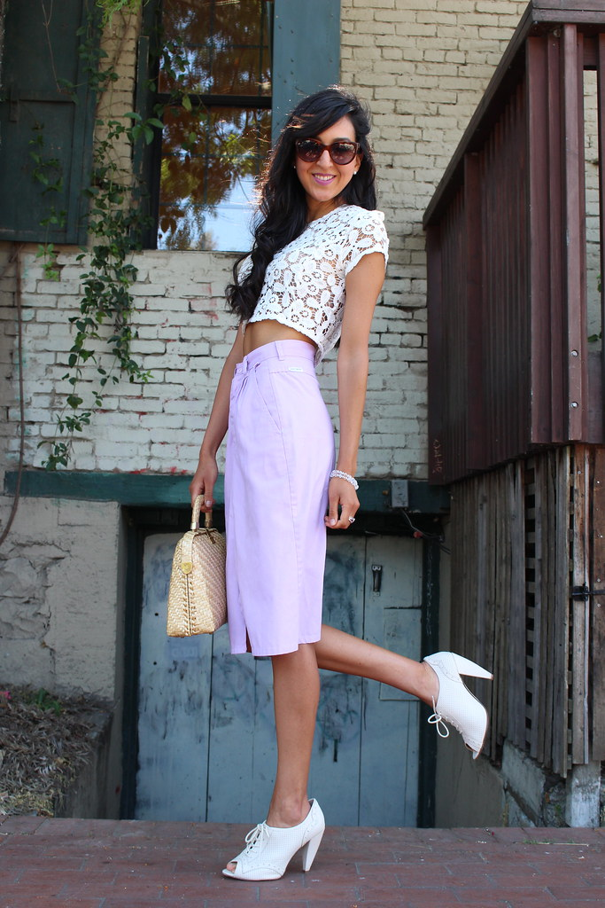 Crop Top and a Lavender Skirt 2