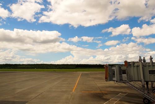 熊本空港は緑が多くて気持ちがいい