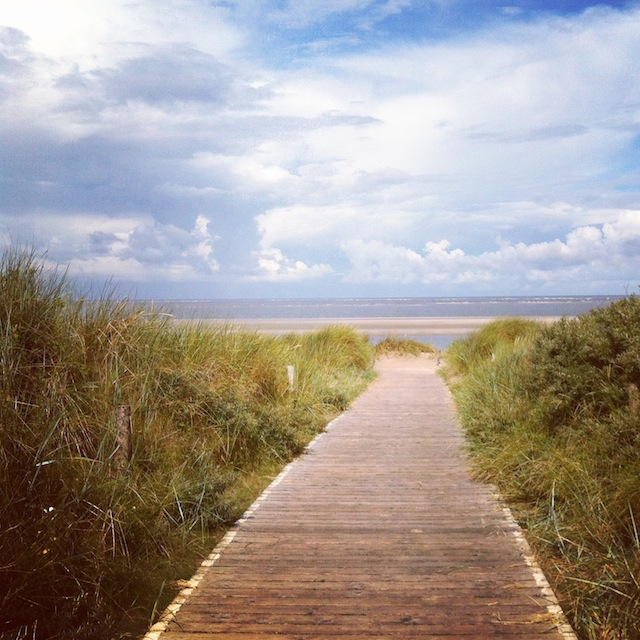 Strandweg Langeoog Dünenlandschaft