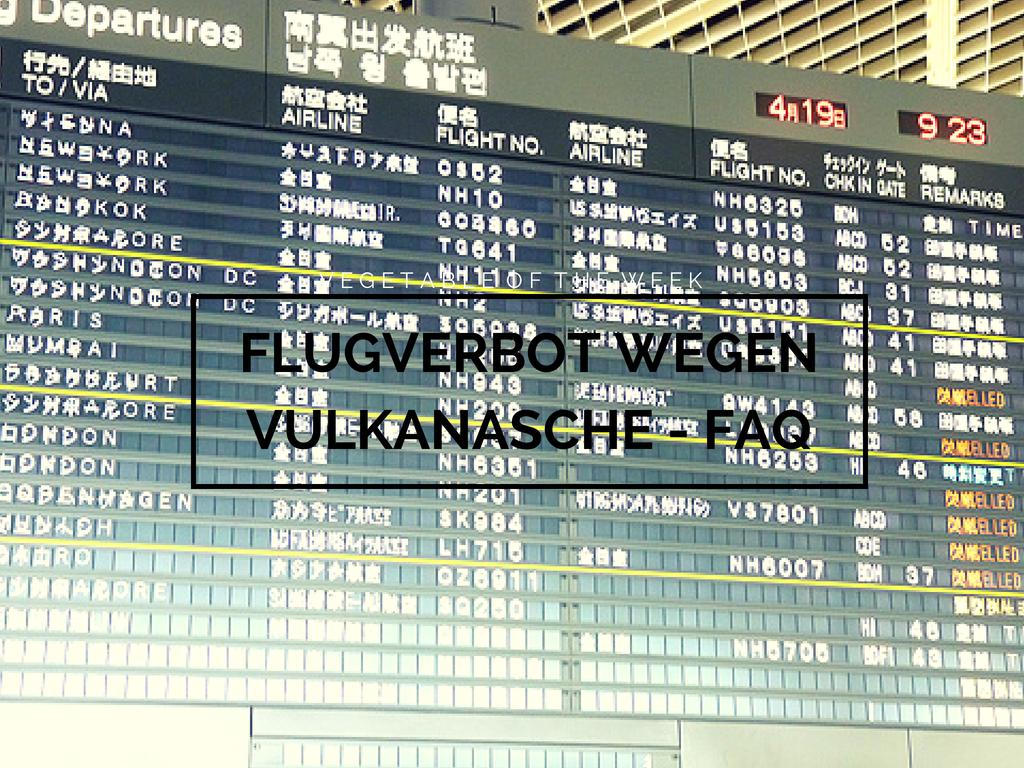 Flugverbot Aschewolke