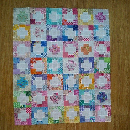 Finished baby quilt top