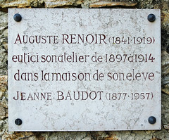 Photo of Auguste Renoir marble plaque